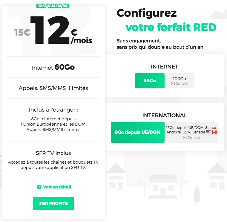 forfait mobile RED by SFR promotion