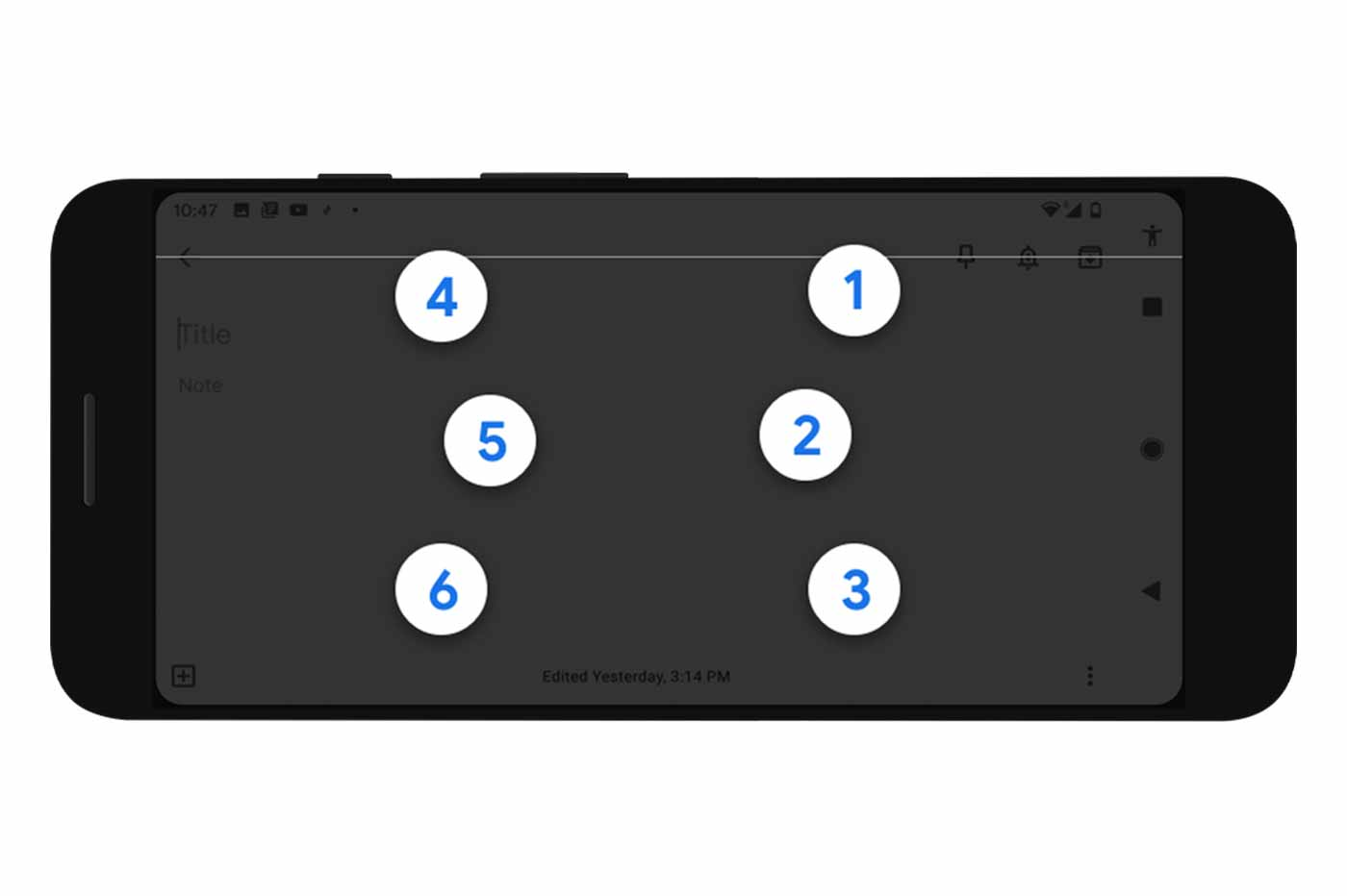 Google Android clavier braille TalkBack