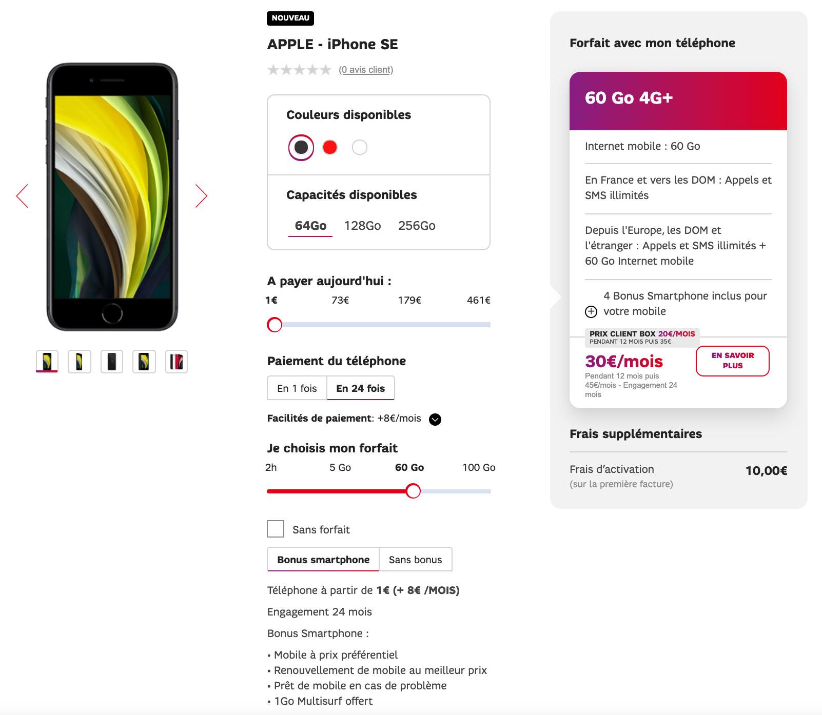 iPhone SE SFR