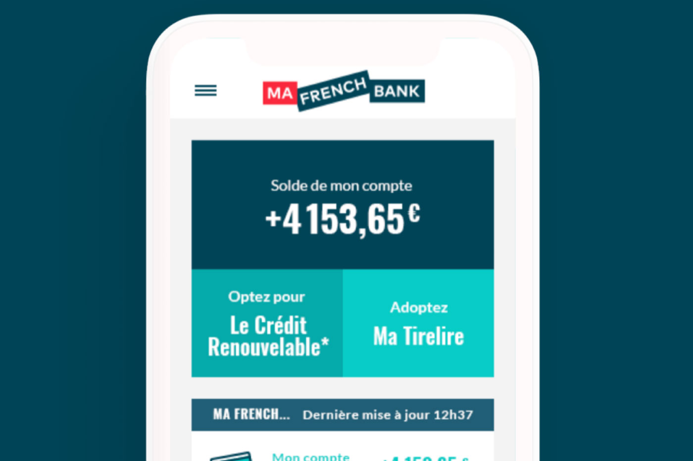 Ma French Bank Application