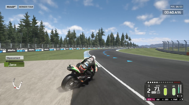 MotoGP 20 - Aide au pilotage