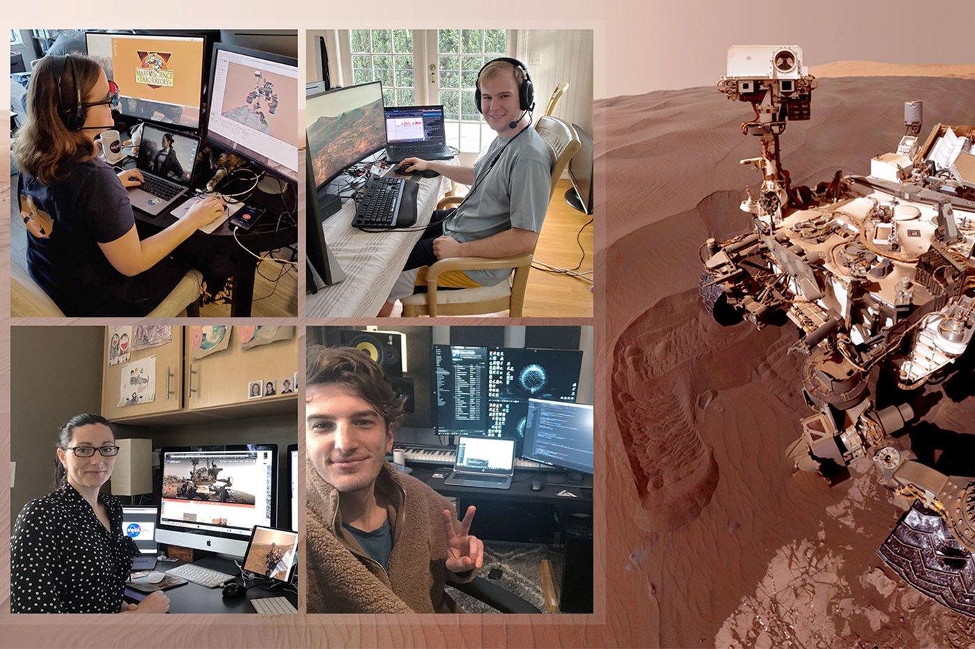 NASA rover Mars Curiosity télétravail