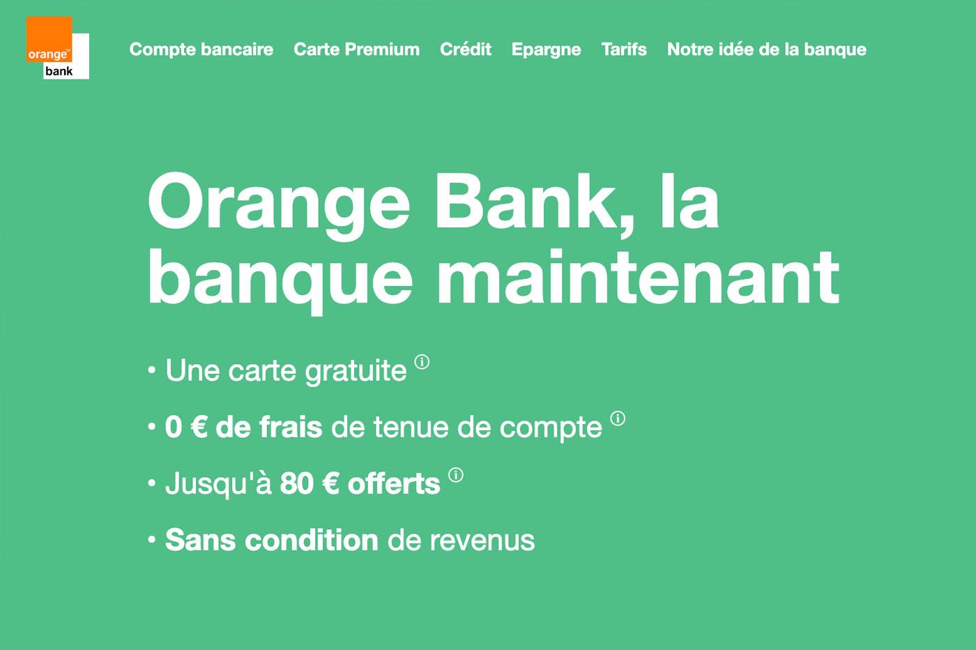 Orange Bank gratuite