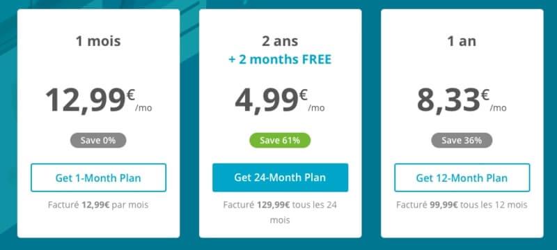 tarif Hideme VPN