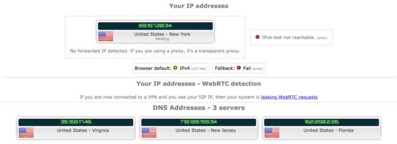 test IP VyprVPN USA
