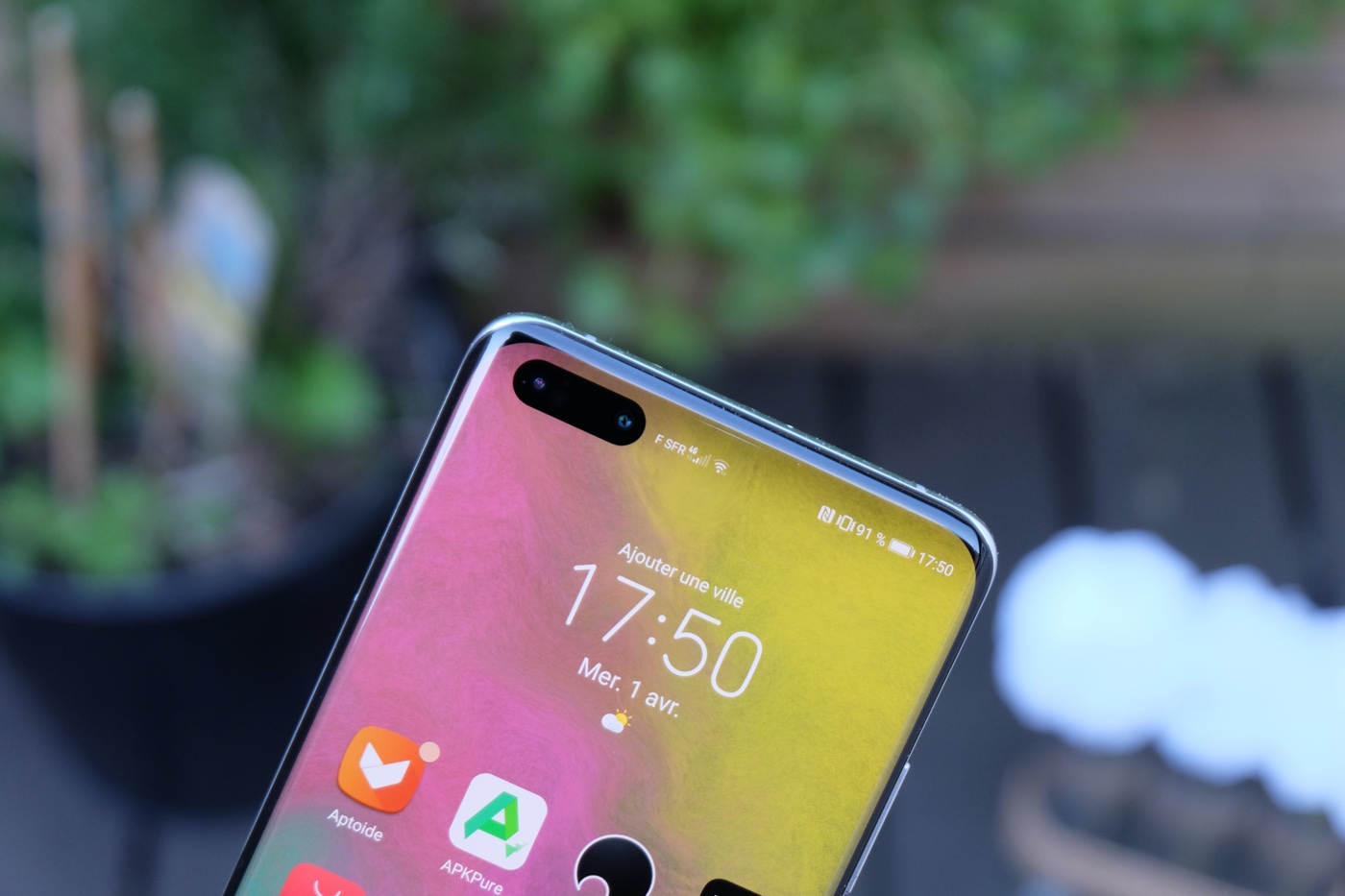 Test Huawei P40 Pro capteur frontal