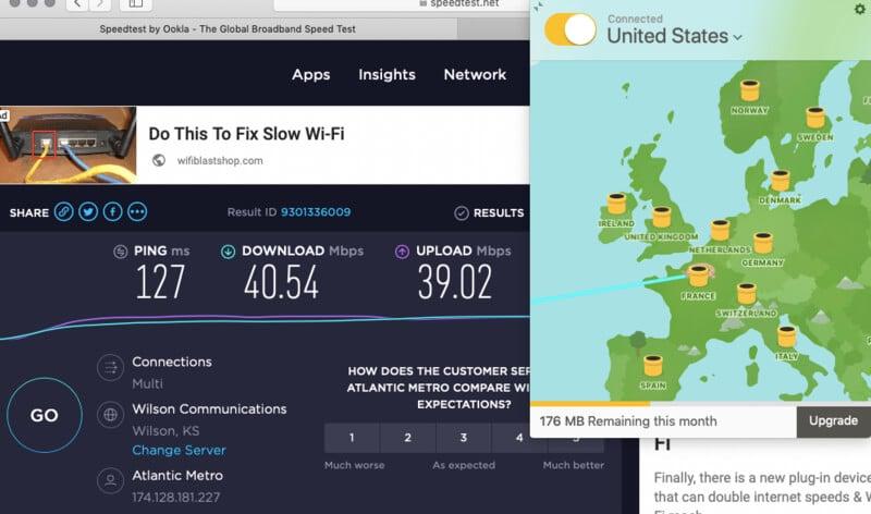 vitesse VPN gratuit TunnelBear USA