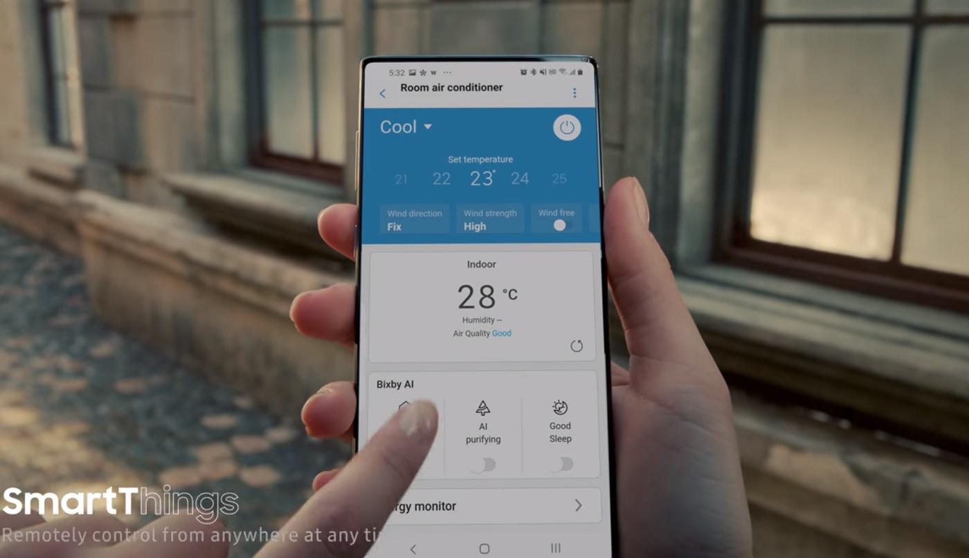 Capture d'écran sur une publicité Samsung