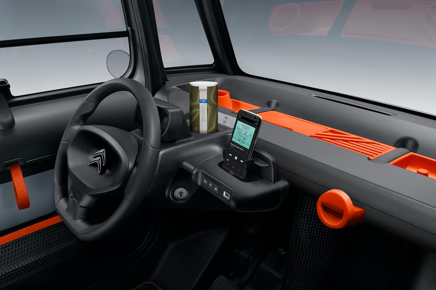 Tableau de bord de la Citroën Ami