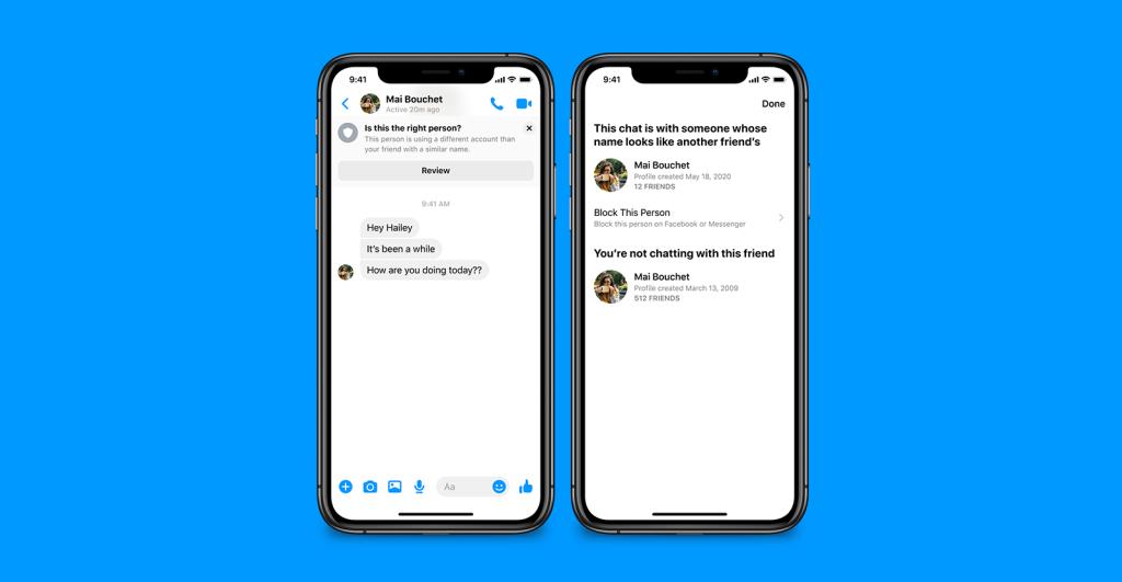 Des avertissements de sécurité sur Facebook Messenger