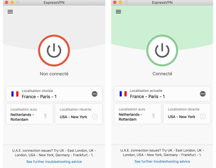 ExpressVPN fonctionnement application