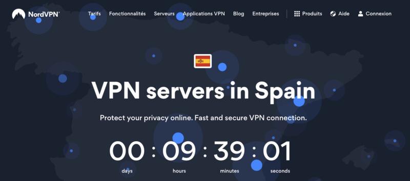 NordVPN VPN Espagne