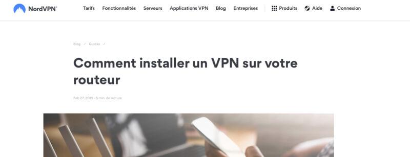 NordVPN VPN routeur