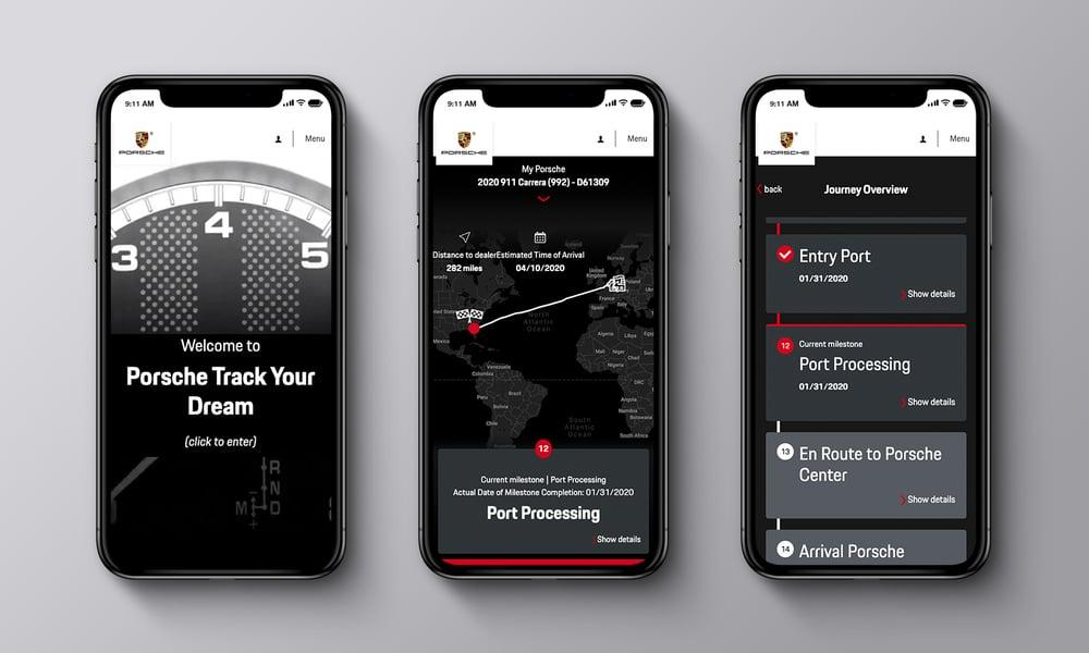 Porsche Track Your Dream App