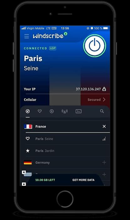Windscribe iOS
