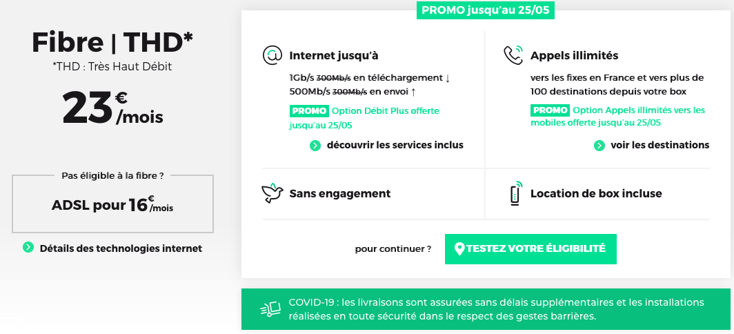 box Internet RED by SFR mai 2020