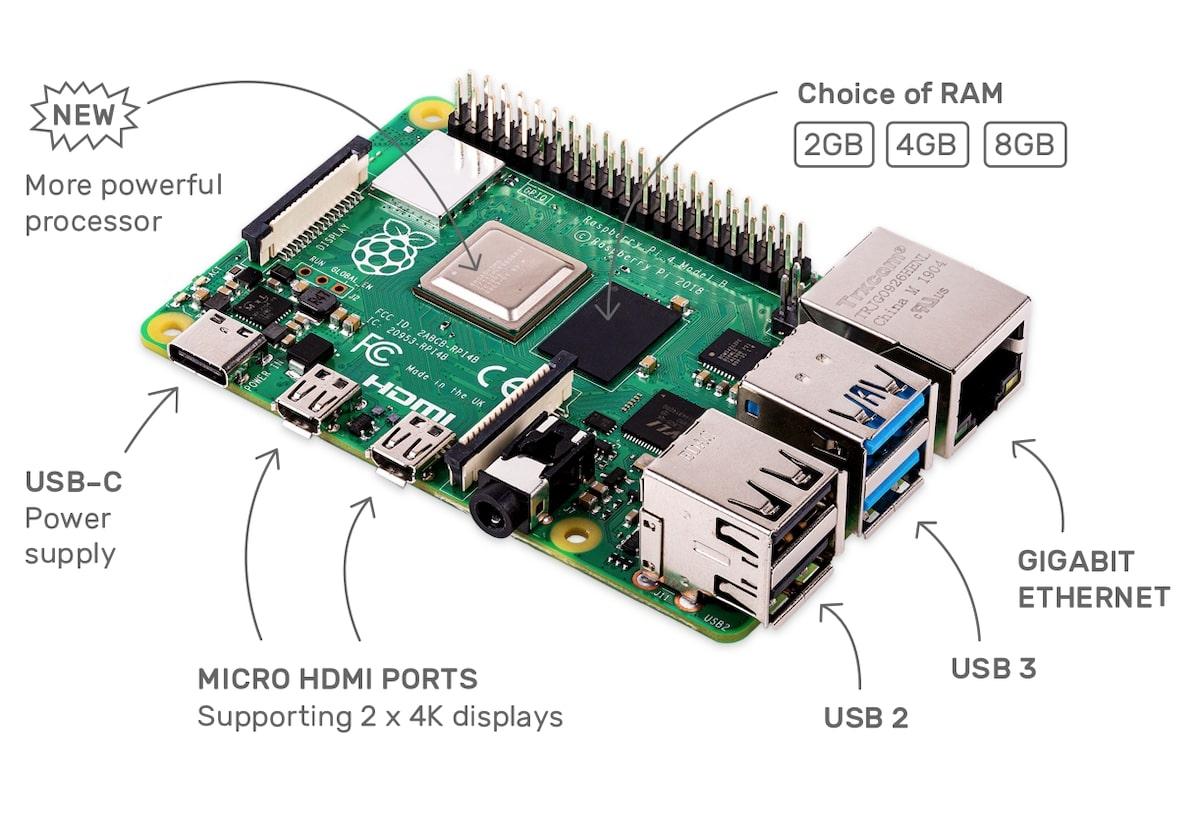 Raspberry 8 Go Pi 4