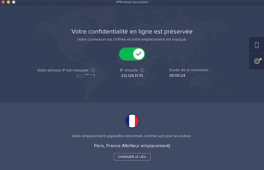 Avast VPN application Mac