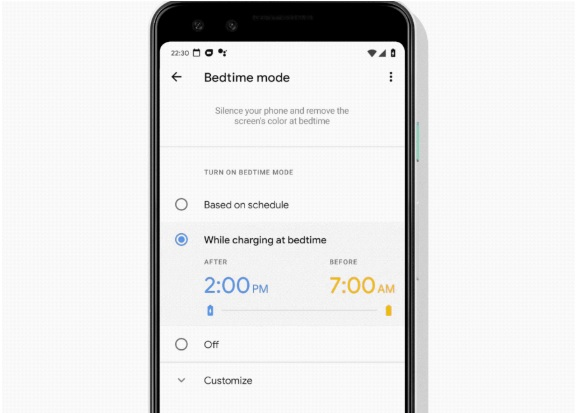 Bedtime Mode sur Android