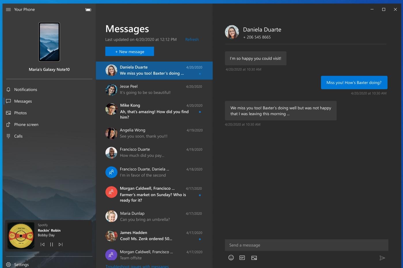 L'application Votre téléphone de Microsoft sur Windows 10