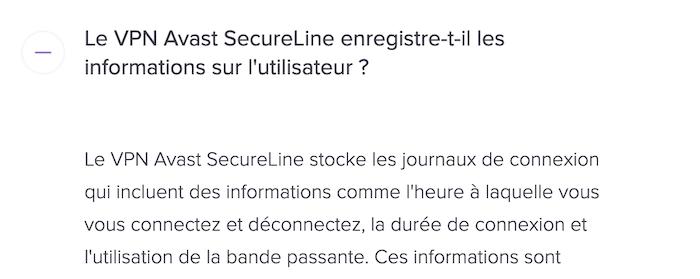 Securite Avast VPN