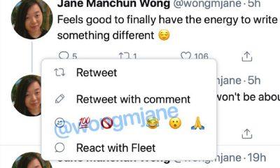 Test des réactions sur Twitter