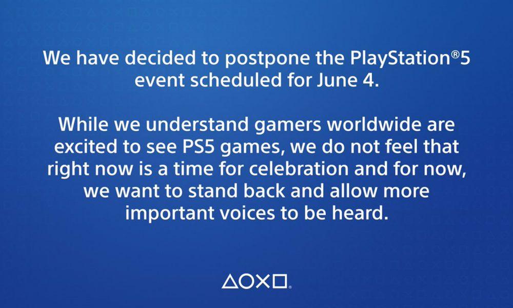 Message PS5 Evenement Repoussé