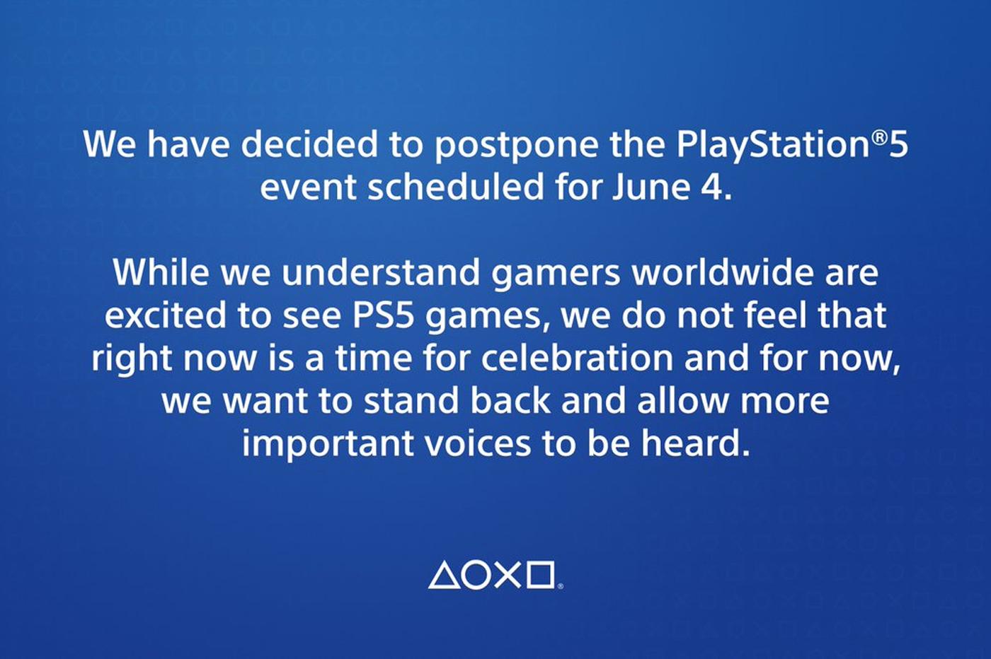 PS5 - C'est officiel, le rendez-vous du 4 juin est repoussé suite aux tragiques événements américains