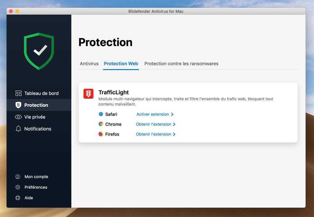 Extension Bitdefender