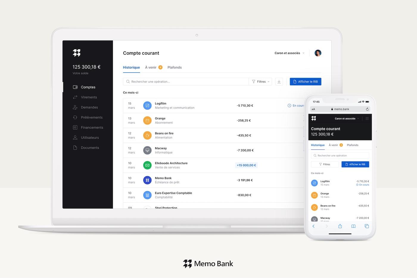 Memo Bank application