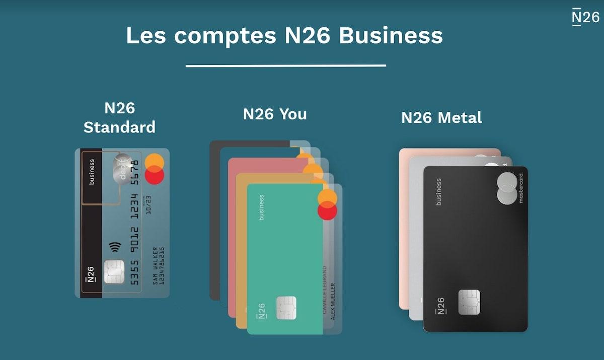 N26 Business cartes