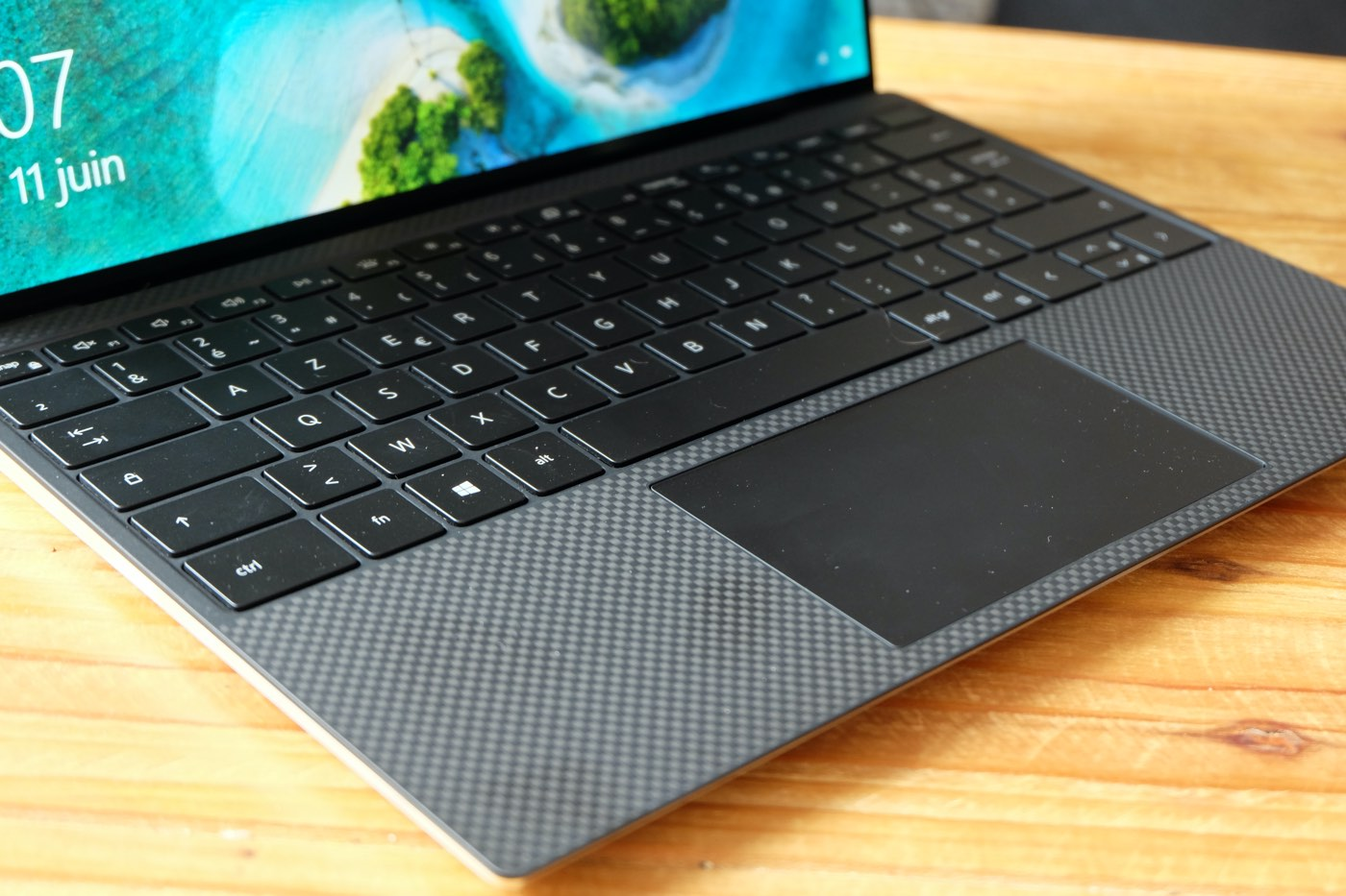 test dell xps 13 2020 4K trackpad