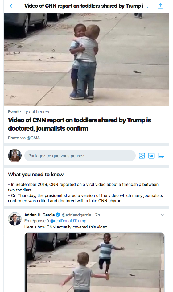 Twitter Trump fake news