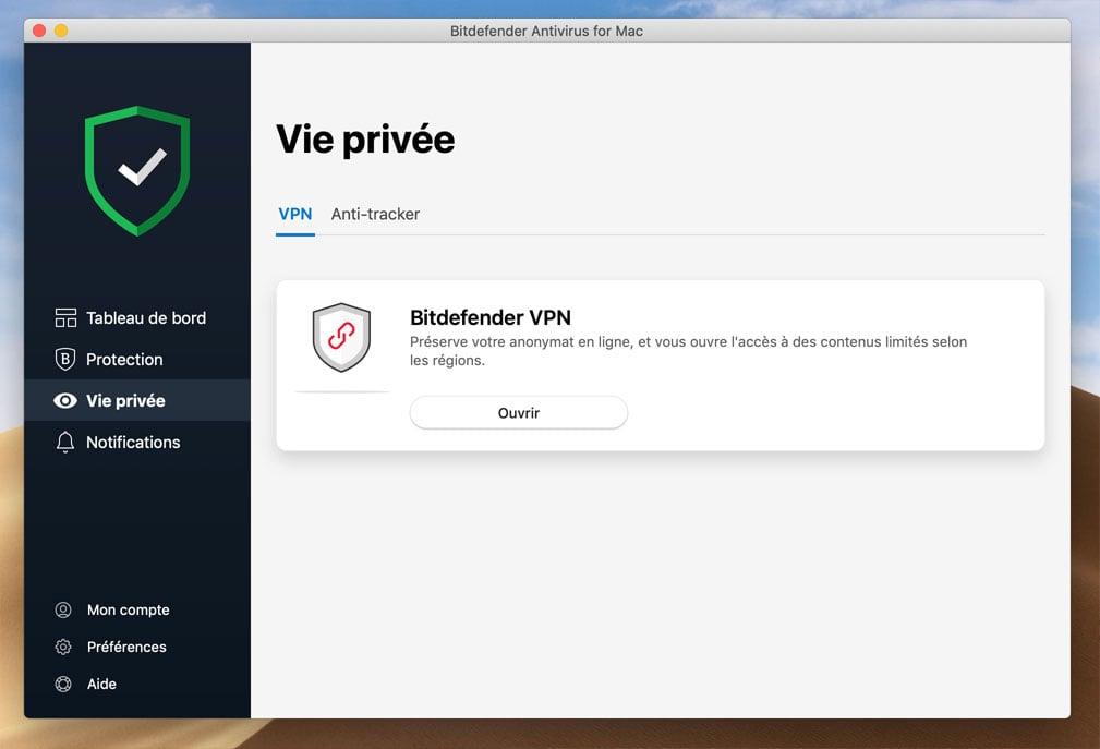 Vie privée Bitdefender