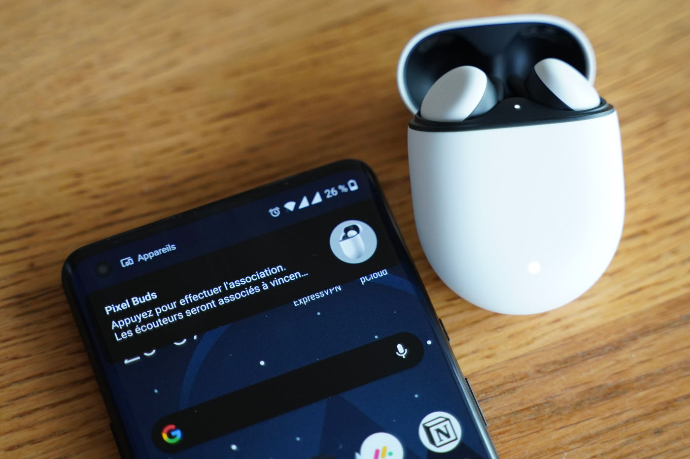 Configuration Google Pixel Buds