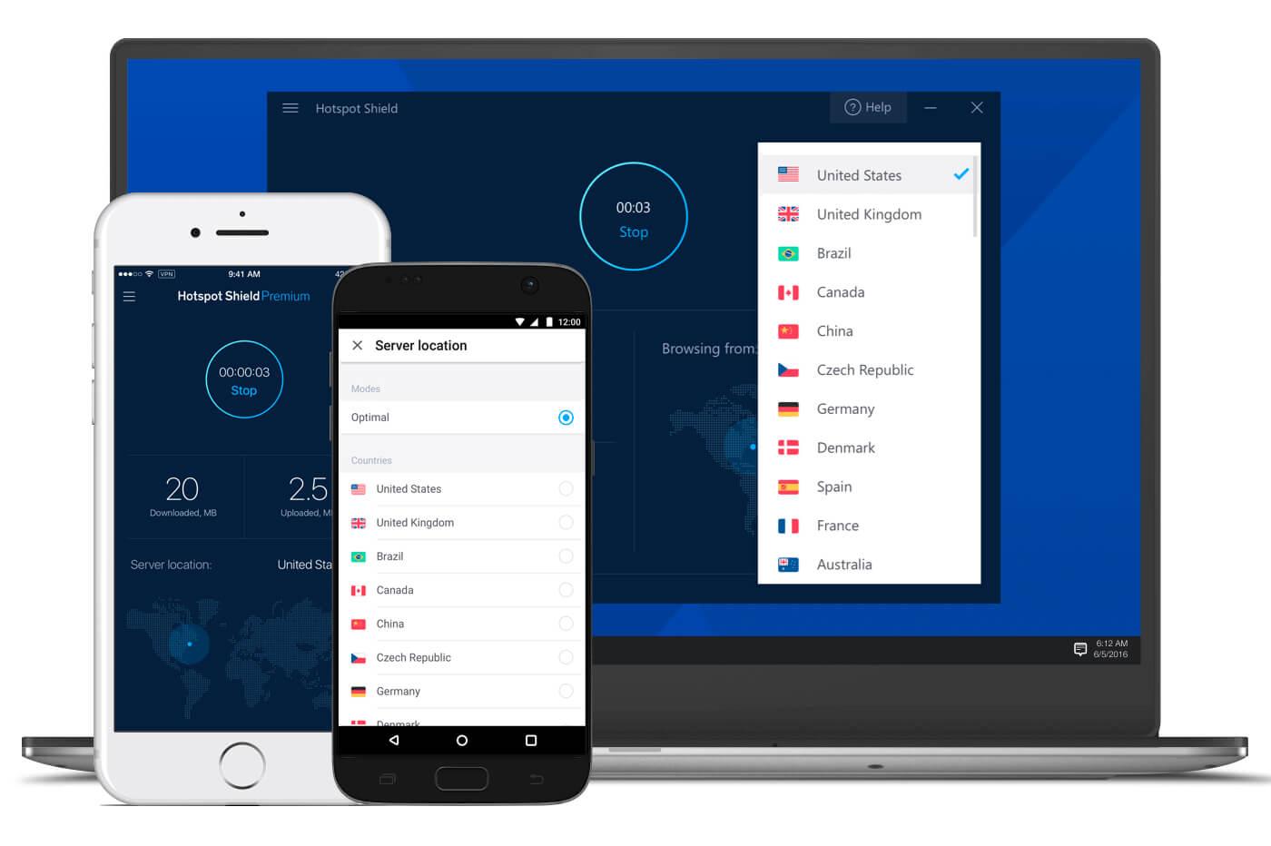 Essai gratuit VPN Hotspot Shield