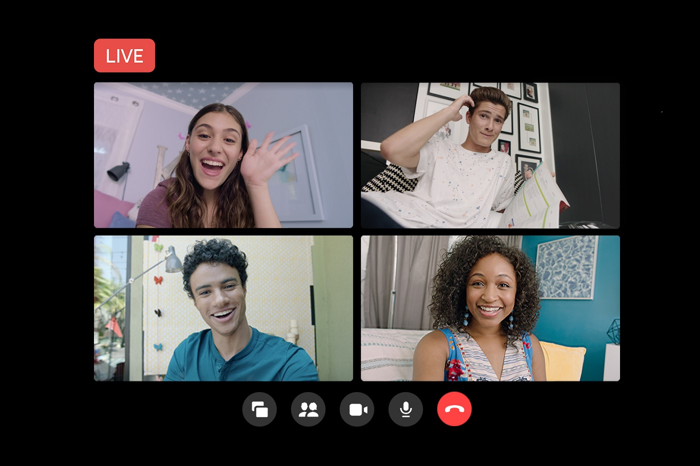 Intégration entre Rooms et Facebook Live