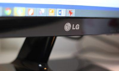 Le logo de LG sur un écran