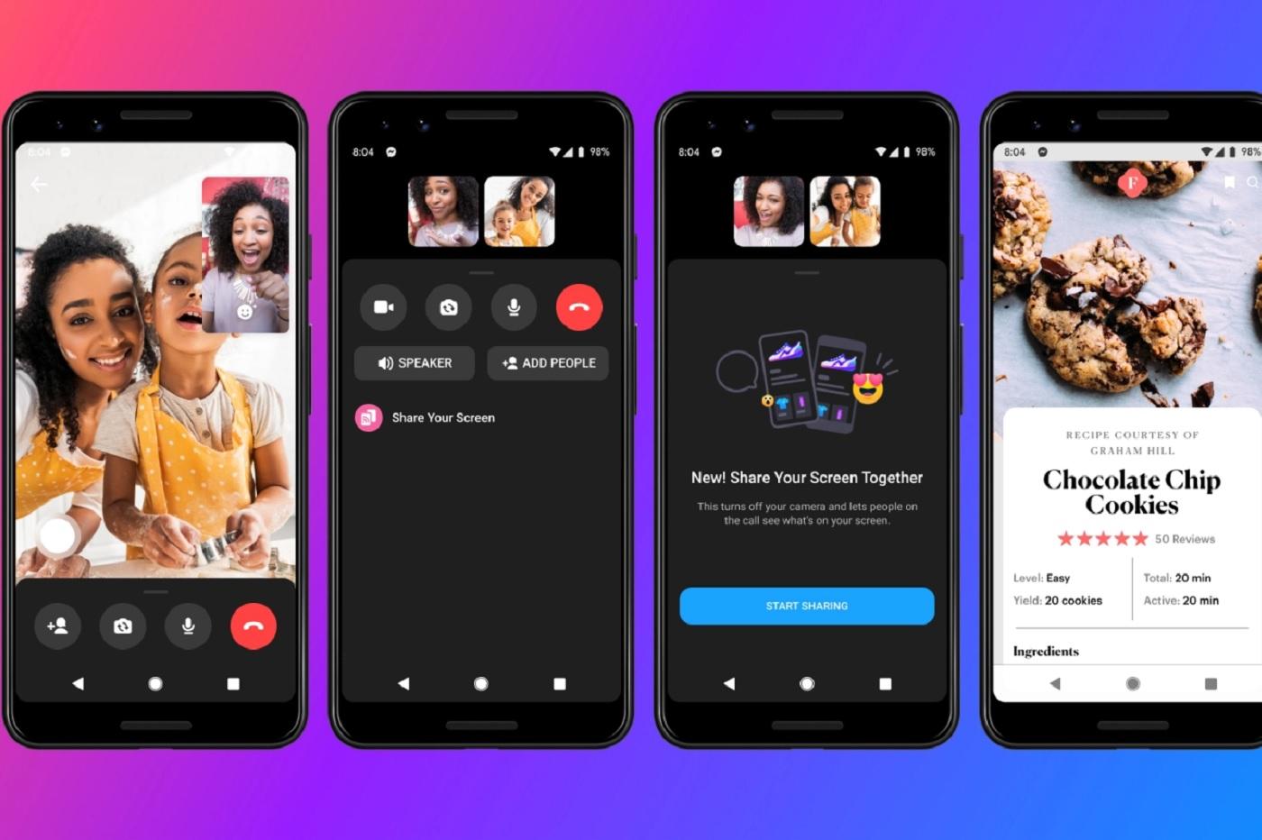Le partage d'écran est enfin possible sur Android et iOS — Facebook Messenger