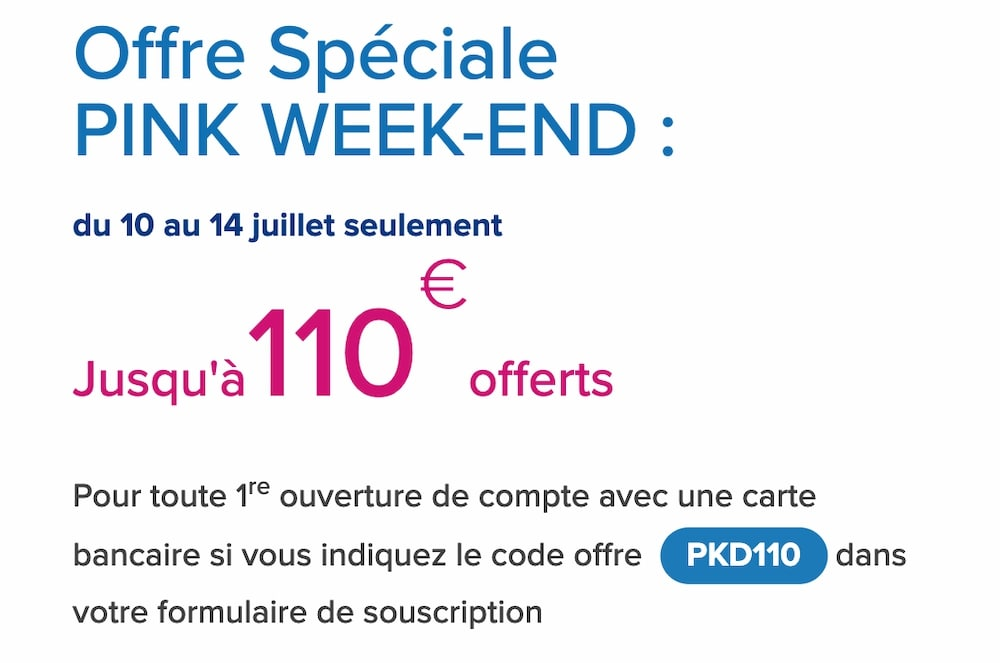 Boursorama Pink Week end