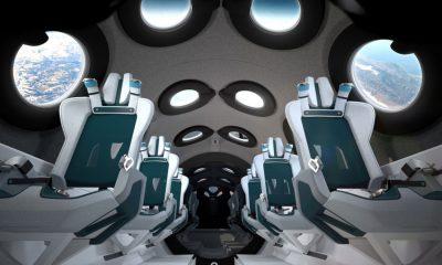 cabine de tourisme spatial Virgin Galactic