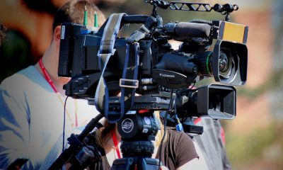 caméra, vidéo, tournage, film, production