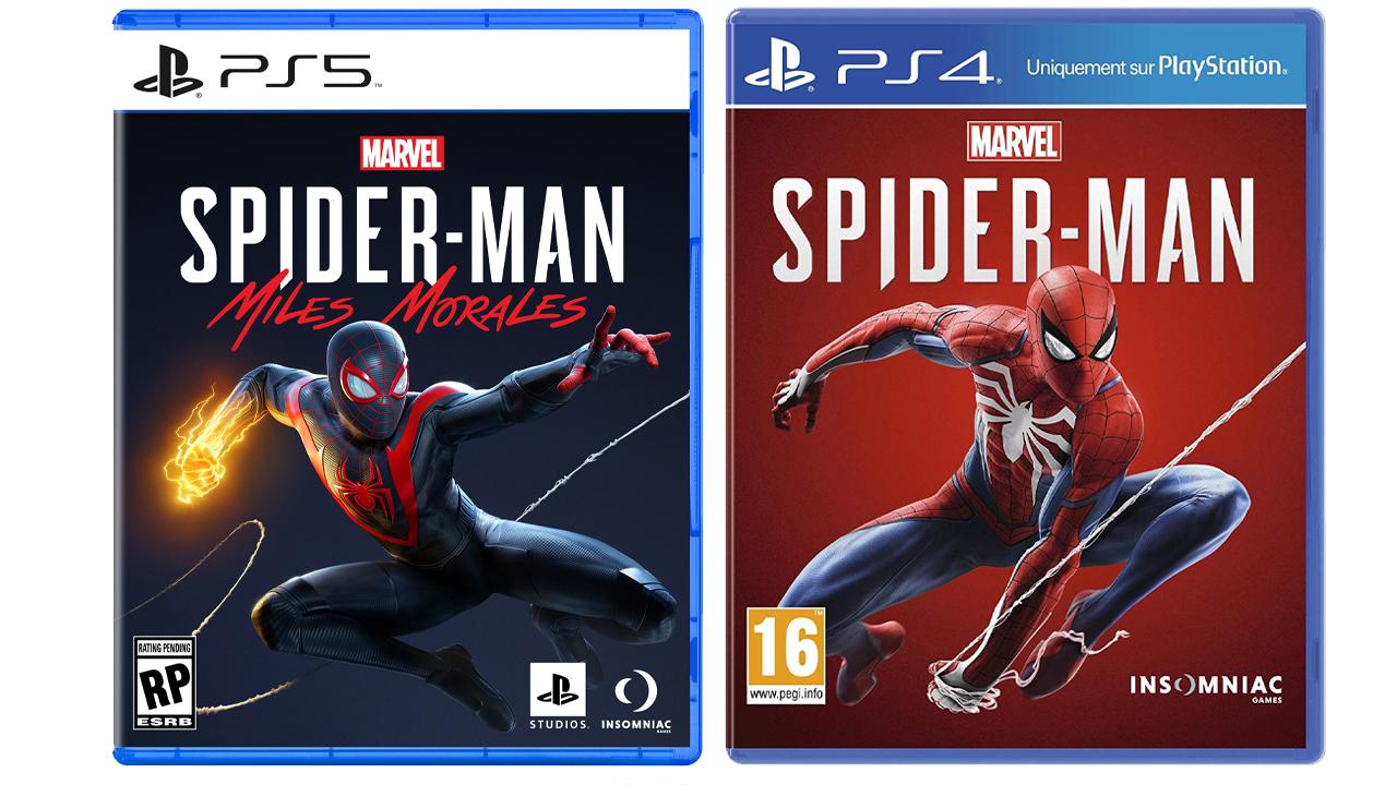 Comparatif jaquettes PS4 et PS5