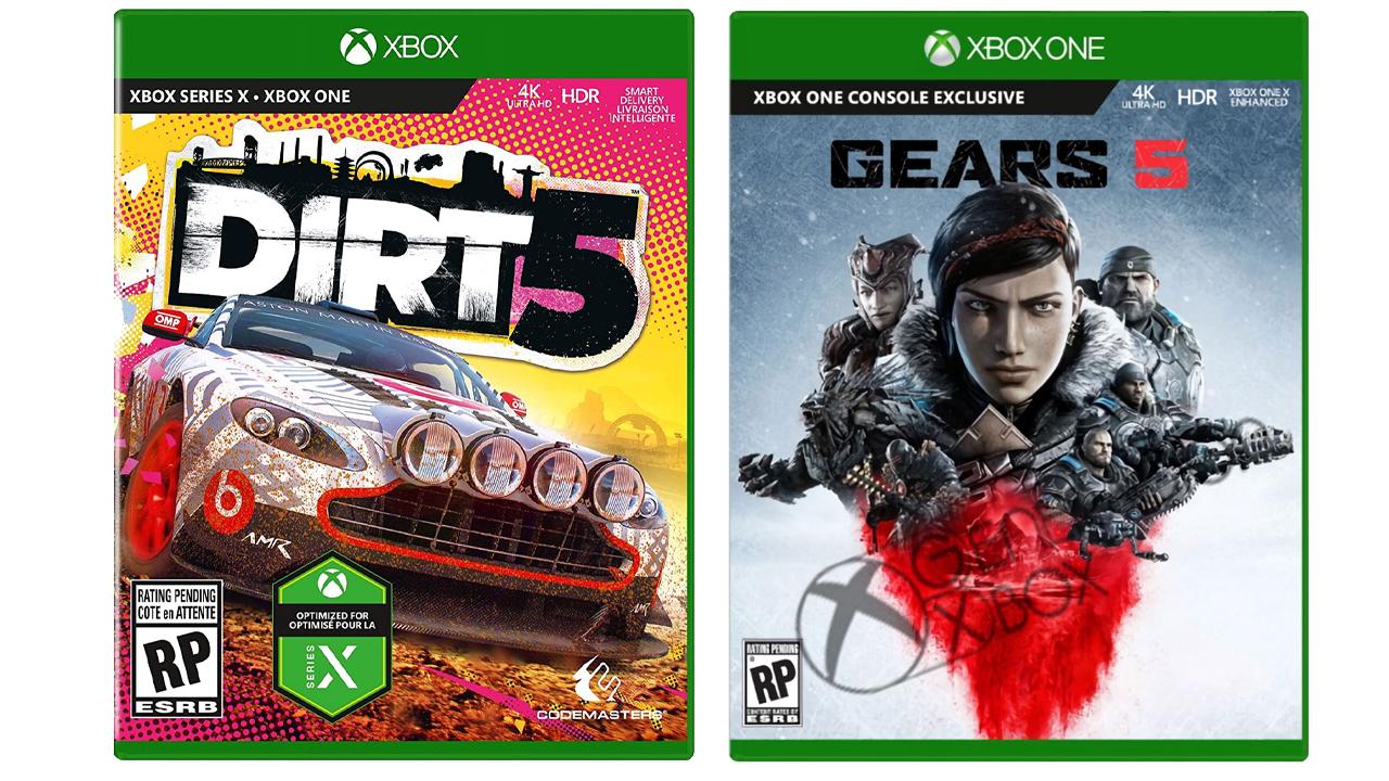 Comparatif Jaquettes Xbox One et Xbox Series X Exclues