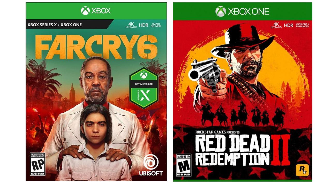 Comparatif Jaquettes Xbox One et Xbox Series X