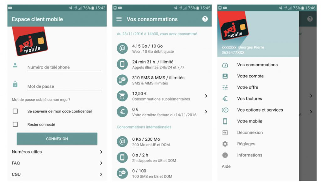 Avis NRJ Mobile application