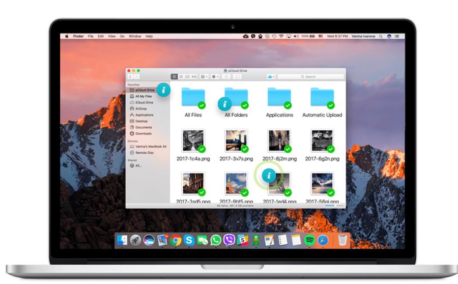 pCloud interface Mac