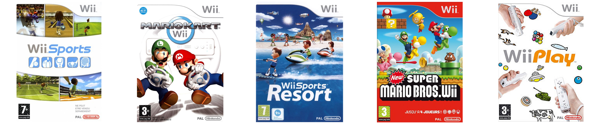 Top 5 jeux Wii
