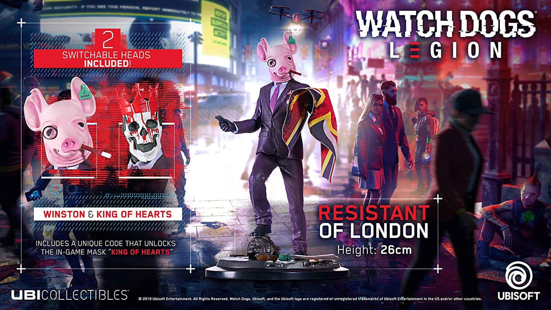 Watch Dogs Legion Edition figurine