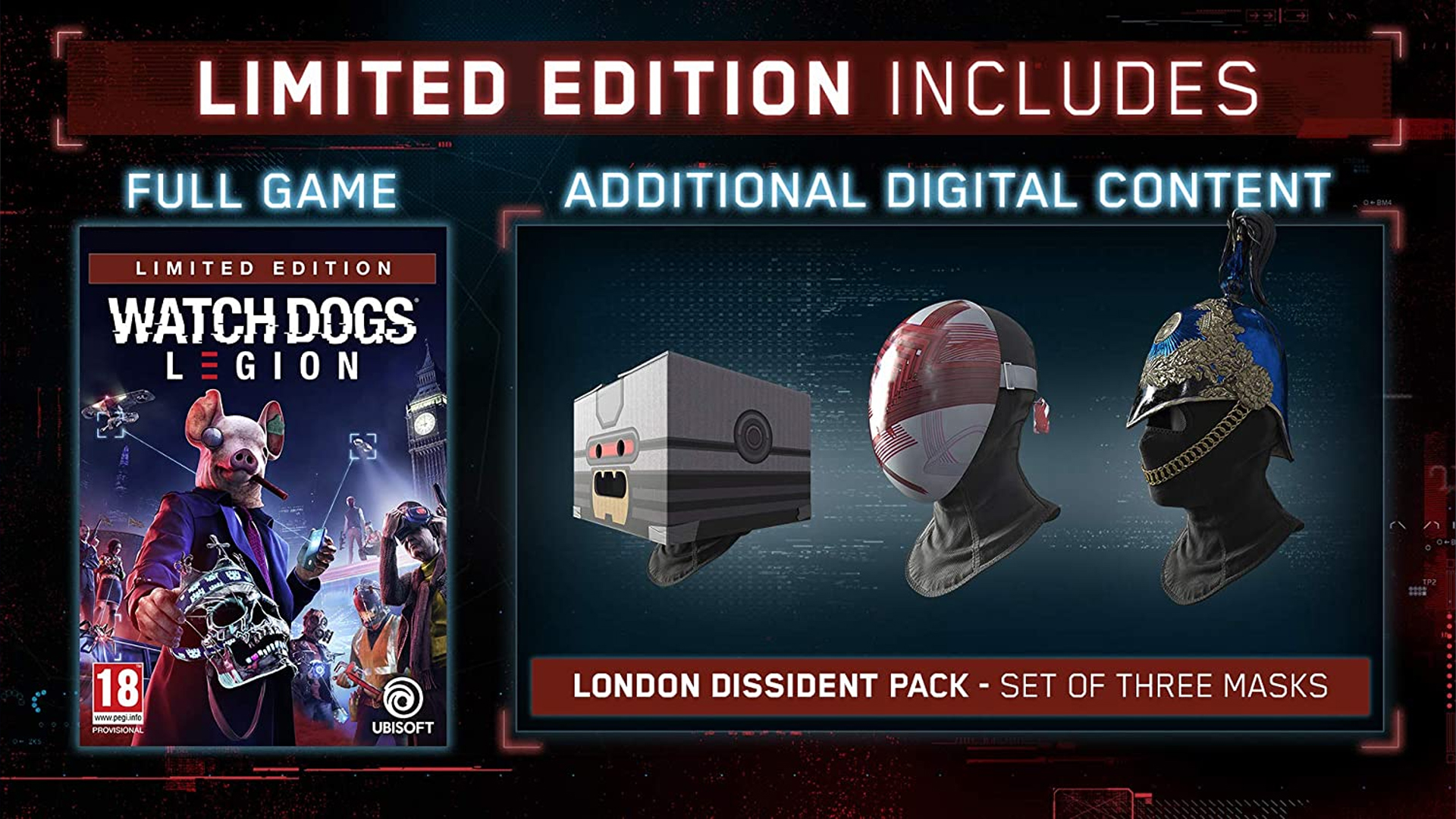 Watch Dogs Legion Edition Limitée Amazon